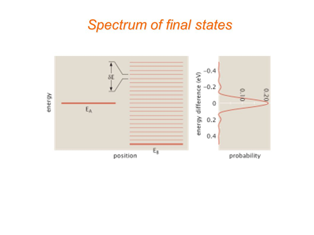 Spectrum of final states