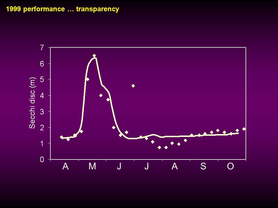 1999 performance … transparency A M J J A S O