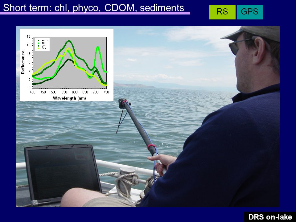 DRS on-lake GPSRS Short term: chl, phyco, CDOM, sediments