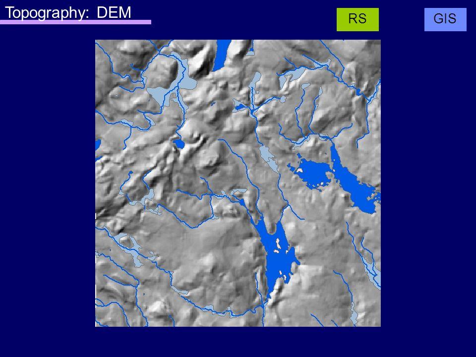 Topography: DEM GISRS