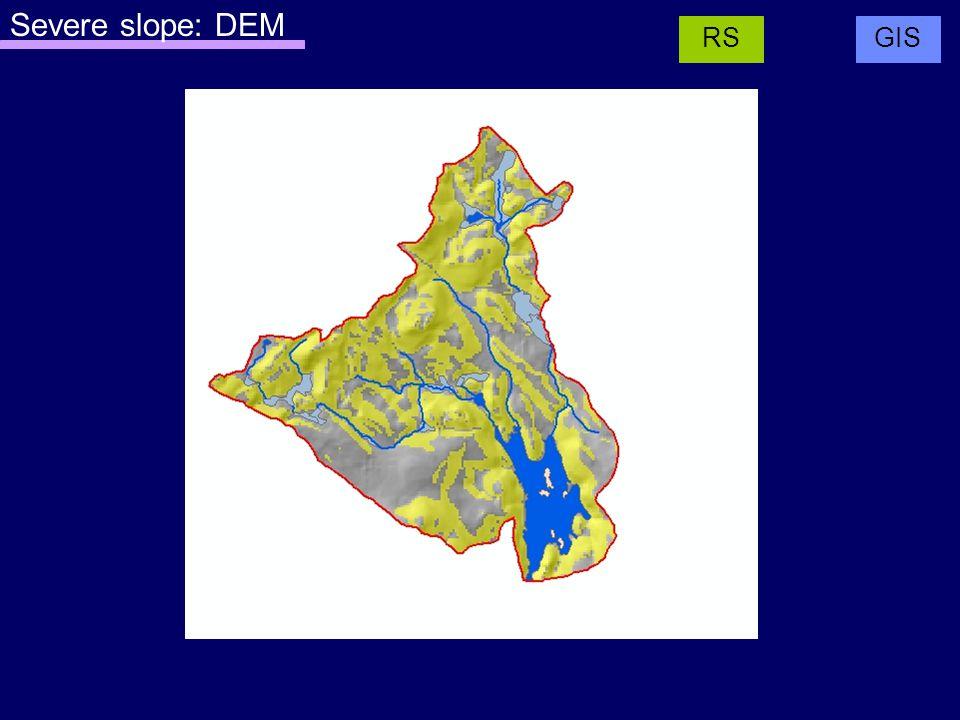 Severe slope: DEM GISRS