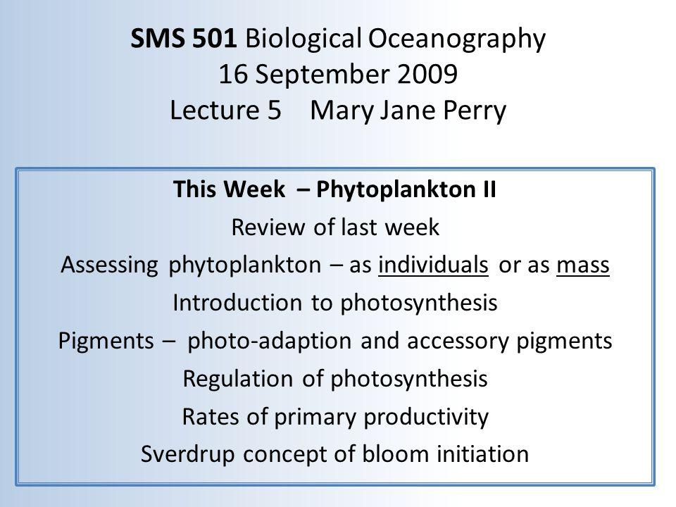 Regional biomass differences as chlorophyll a (mg chl a m -3 ) Oligotrophic gyres 0.03-0.15 (mostly small ultra and picoplankton) Coastal upwelling 2-16 (nano and larger netplankton) Coastal shelves 0.5-35 (seasonal: spring net & nano, summer picoplankton) Equatorial Pacific upwelling 0.2-0.3 (small picoplankton) (seasonality; variance high in coastal waters; eutrophication - higher) SeaWiFS chl