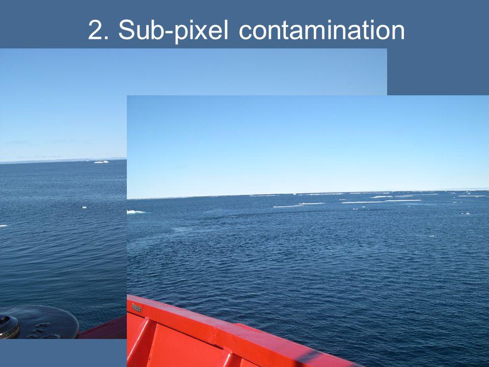2. Sub-pixel contamination