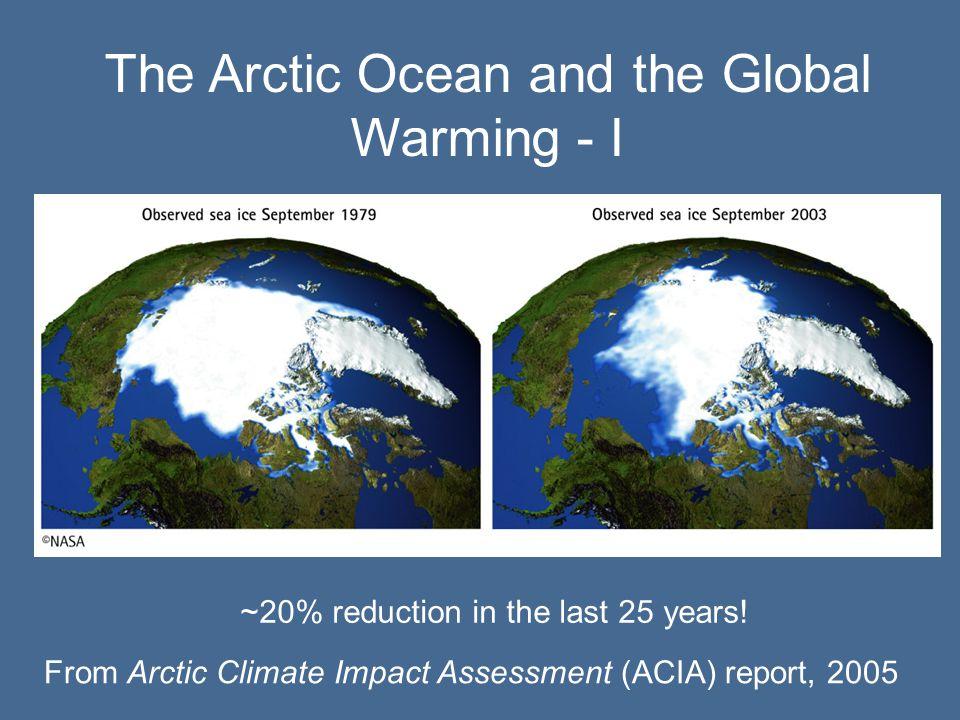The Arctic Ocean and the Global Warming - II www.acia.uaf.edu (2005)