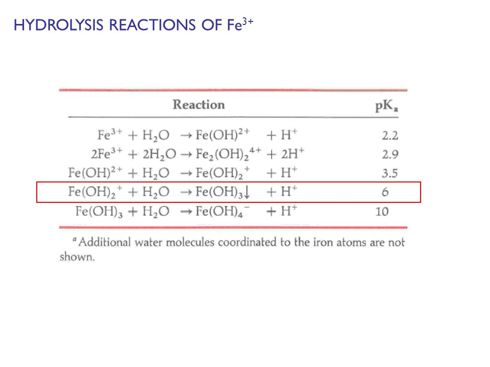HYDROLYSIS REACTIONS OF Fe 3+