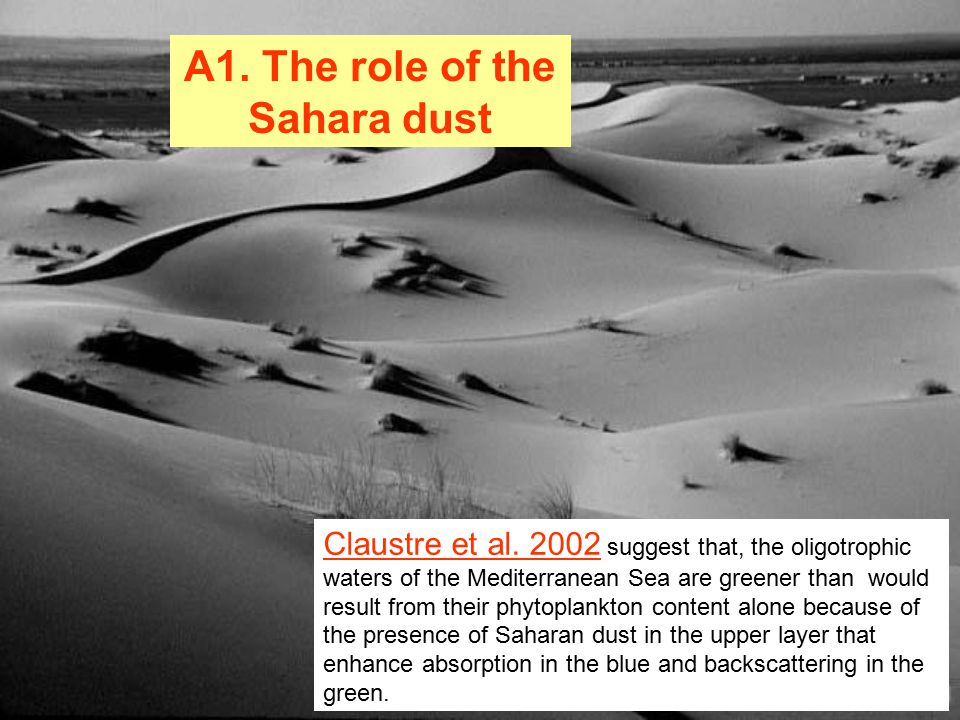 A1. The role of the Sahara dust Claustre et al.