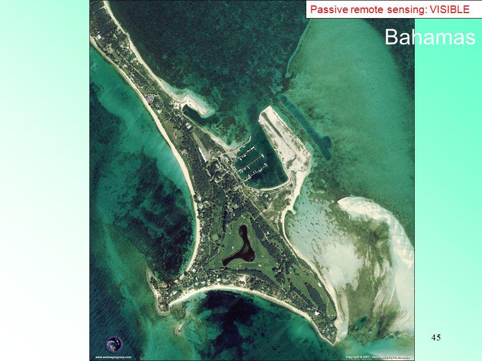 45 Passive remote sensing: VISIBLE Bahamas