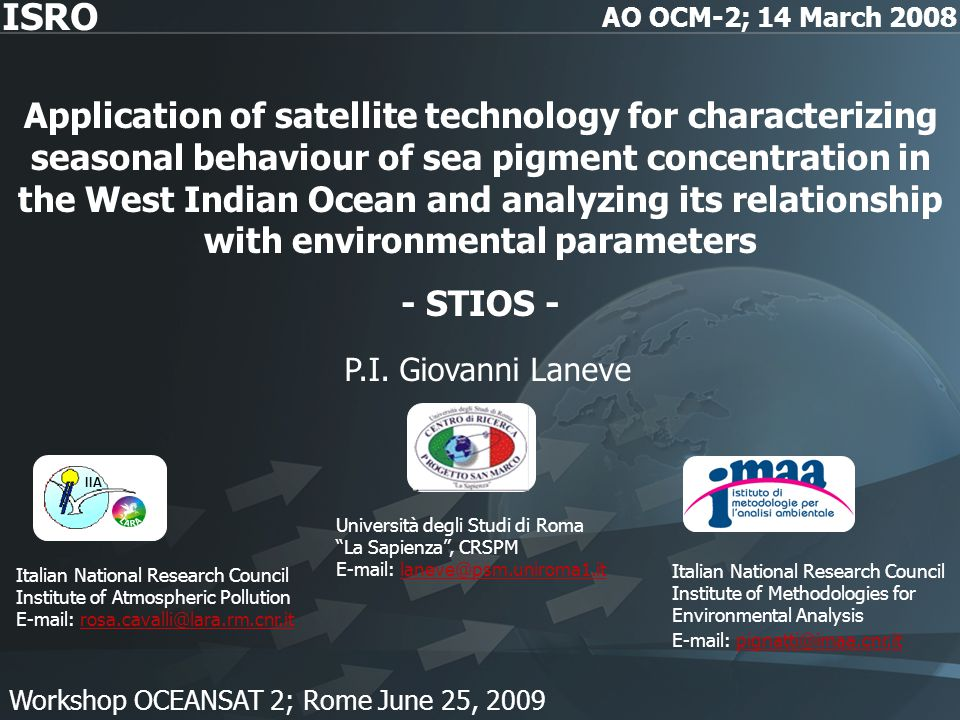 Application of satellite technology for characterizing seasonal behaviour of sea pigment concentration in the West Indian Ocean and analyzing its rela