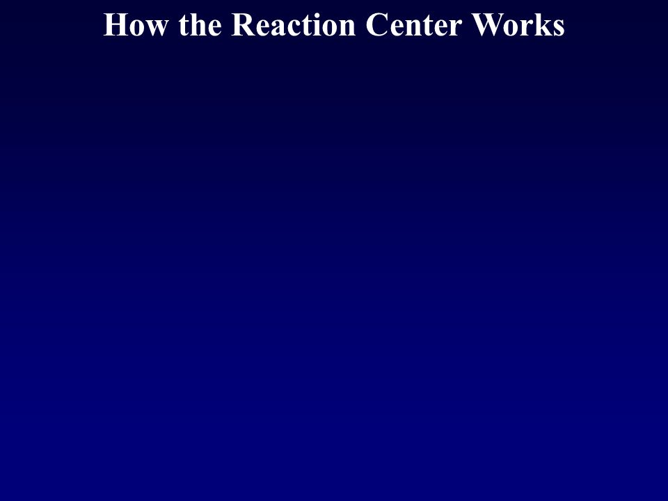 How the Reaction Center Works