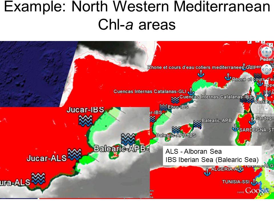 PERSEUS SUMMER SCHOOL, 7 th May 2013 CONSTANTA Example: North Western Mediterranean Chl-a areas ALS - Alboran Sea IBS Iberian Sea (Balearic Sea) 46