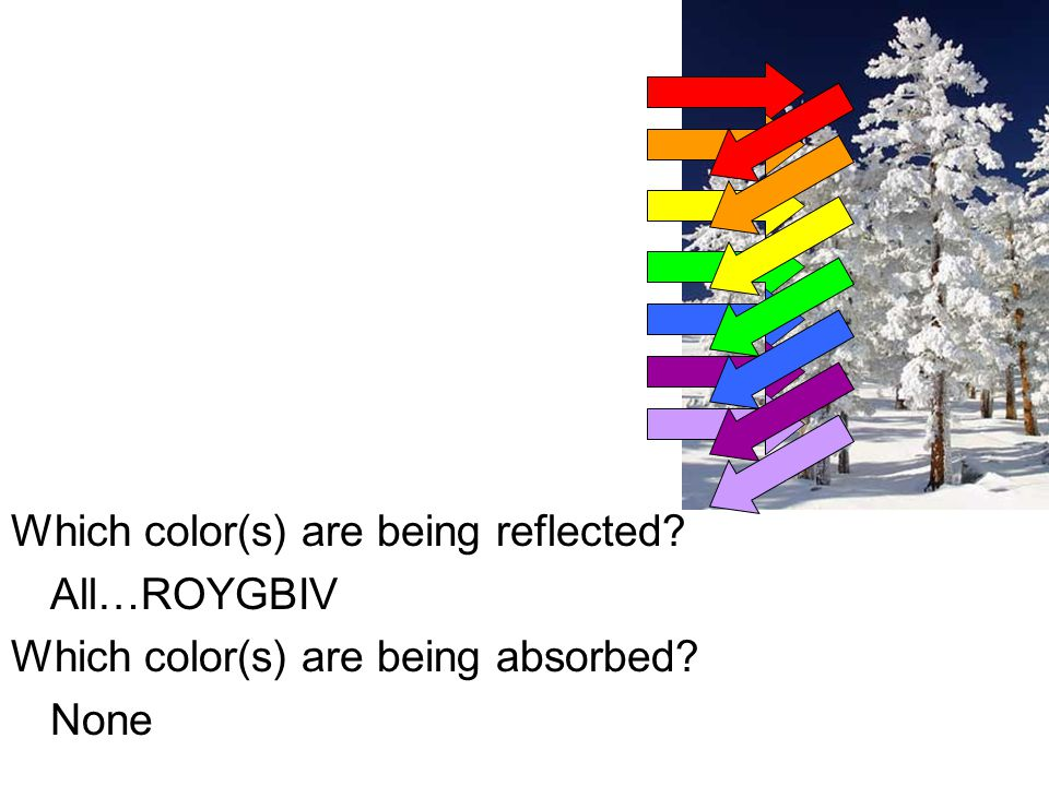 Which color(s) are being reflected.