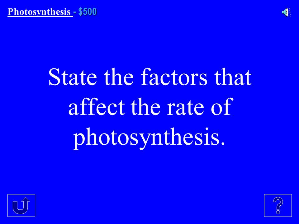 $400 Photosynthesis $400 Which one(s) of these are Reactions are found in photosynthesis: 1).