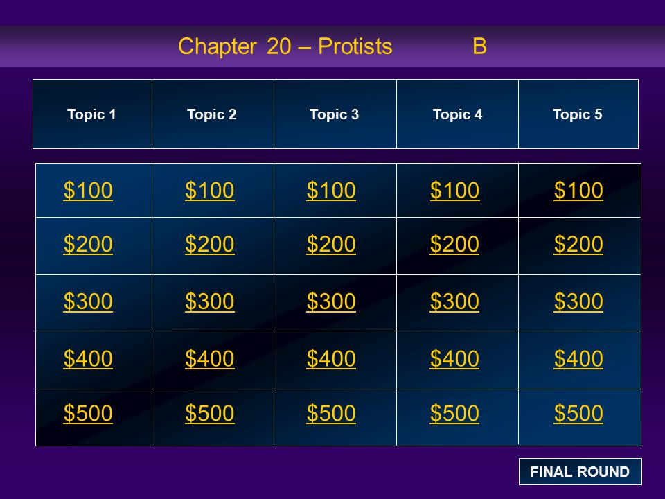 Topic 2: $100 Question Which of the following series of groups contains only funguslike protists.