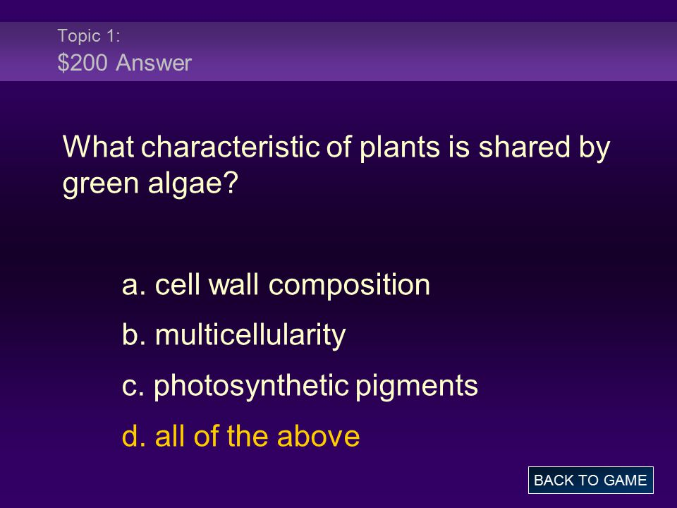 Topic 3: $300 Question A protist is any organism that is not a plant, an animal, a fungus, or a(an) a.