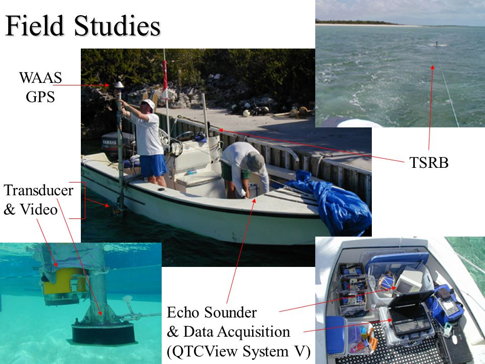 Field Studies TSRB Echo Sounder & Data Acquisition (QTCView System V) Transducer & Video WAAS GPS