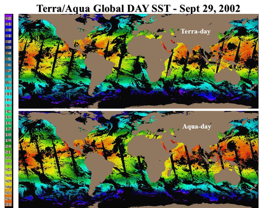 Aqua-day Terra-day Terra/Aqua Global DAY SST - Sept 29, 2002