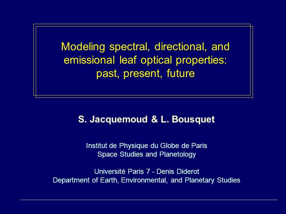 S. Jacquemoud & L.