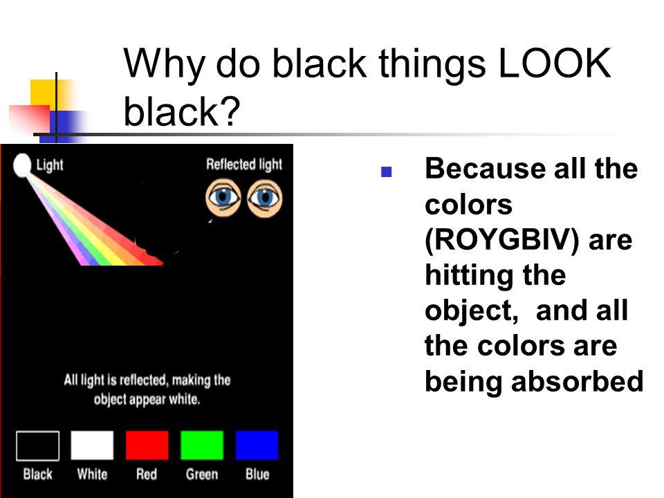 Why do black things LOOK black.