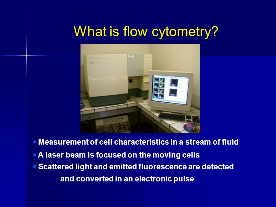 What is flow cytometry.