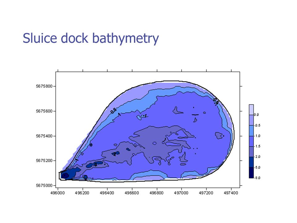 Sluice dock bathymetry