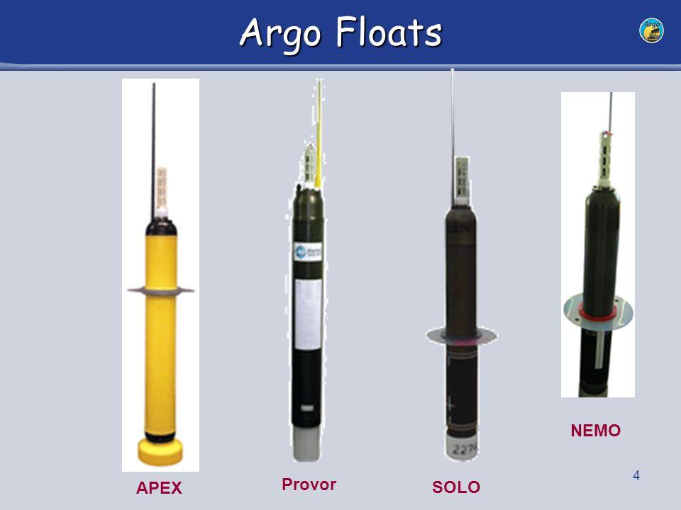 4 Argo Floats APEX SOLO Provor NEMO