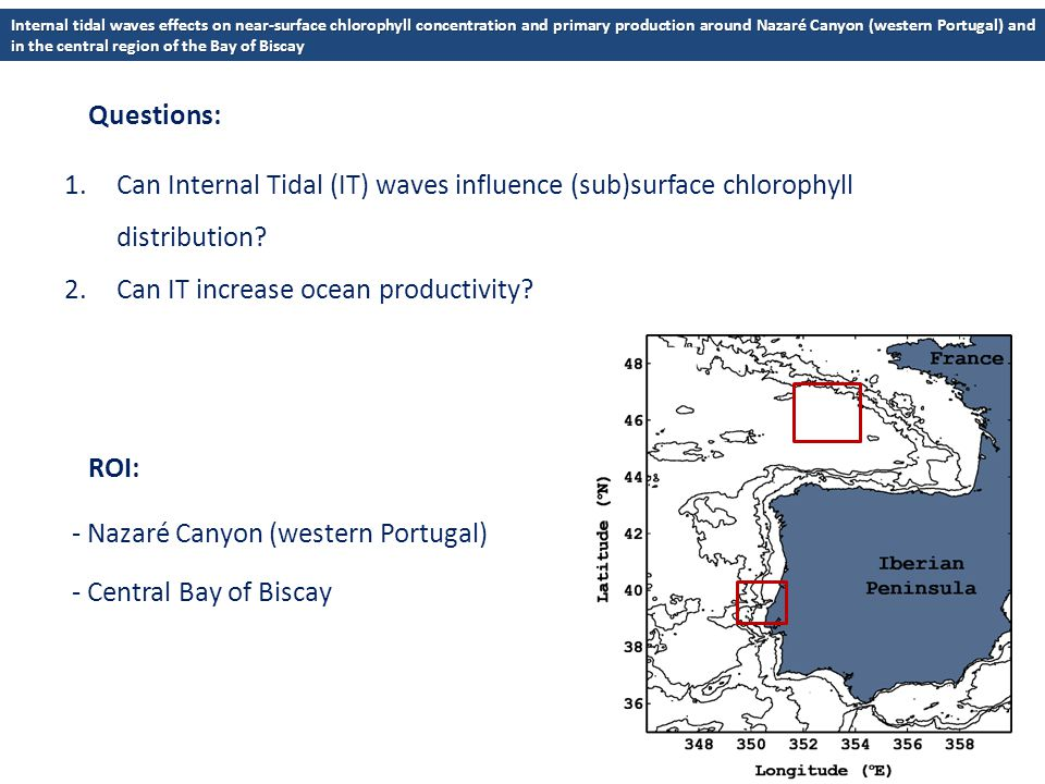 1.Can Internal Tidal (IT) waves influence (sub)surface chlorophyll distribution.