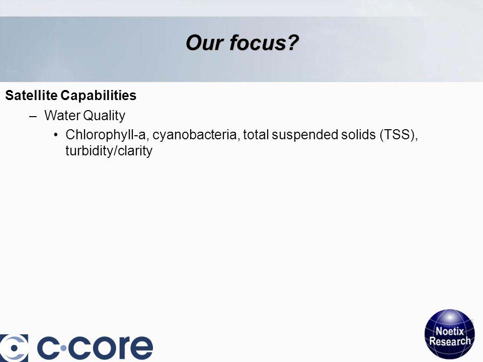 Satellite Capabilities 5 Our focus.