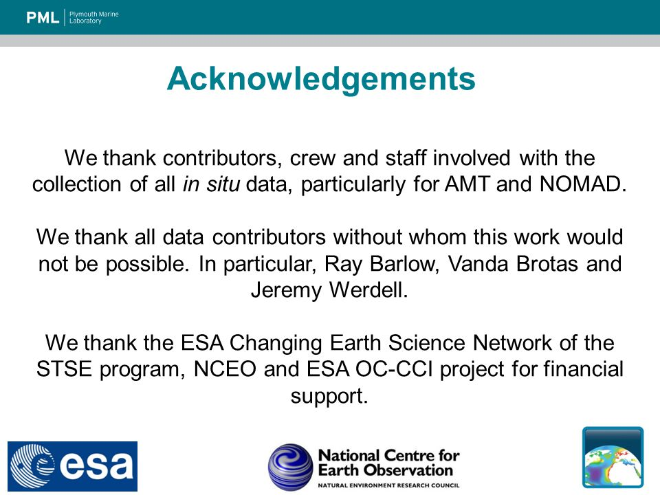 We thank contributors, crew and staff involved with the collection of all in situ data, particularly for AMT and NOMAD.