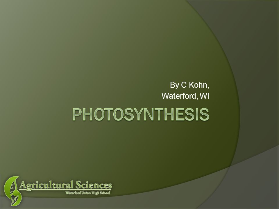 Photosynthesis (in a nutshell)  The energy originally from sunlight is transformed and used to combine CO 2 and H 2 O into Glucose (C 6 H 12 O 6 ) or other plant molecules (cellulose, amino acids, etc.)