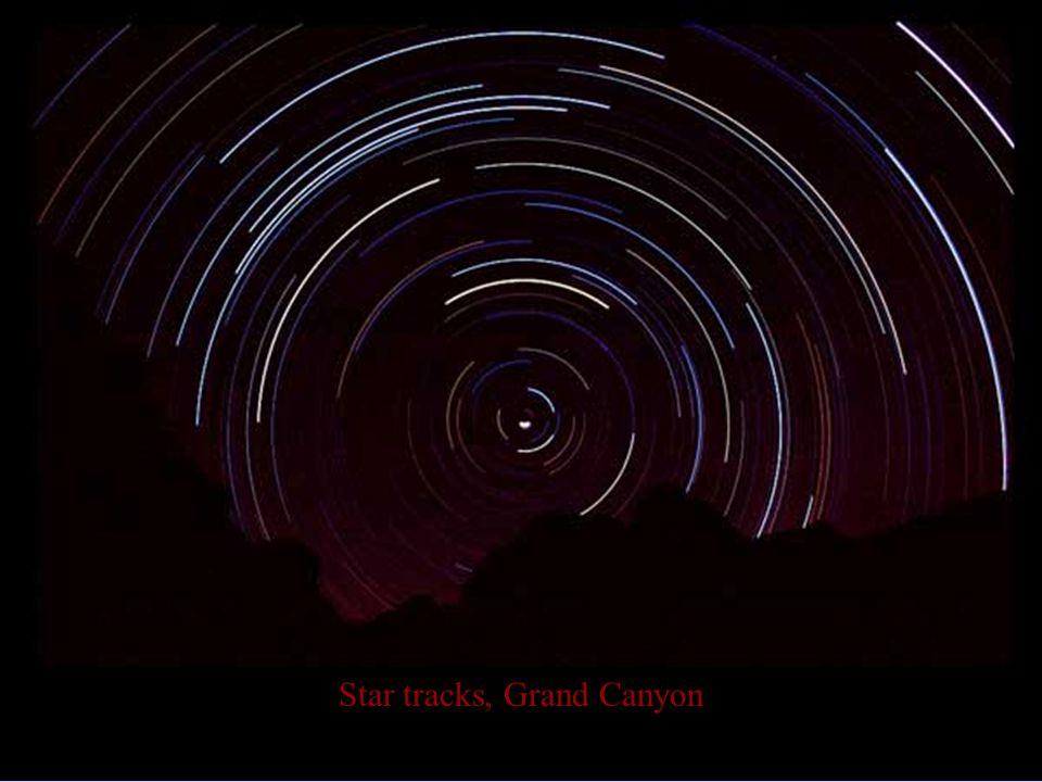 Star tracks, Grand Canyon