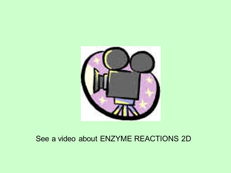 See a video about ENZYME REACTIONS 2D