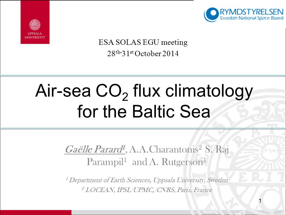 Context 2  Exchange of CO 2 between coastal environments and atmosphere ≈16 % of the open ocean sink but continental shelf < 7 % of the oceanic surface  Problem for the quantification the oceanic sink and large uncertainty related to sparse of in-situ data coverage in time and space  Baltic Sea is comparably well monitoring (program for several decades)  Nevertheless air-sea CO 2 flux estimation in Baltic Sea remains particularly challenging  Neural network have the potential to generate additional information  Estimate pCO 2 variability in the global Baltic Sea with satellite data  Estimate the CO 2 flux in Baltic Sea