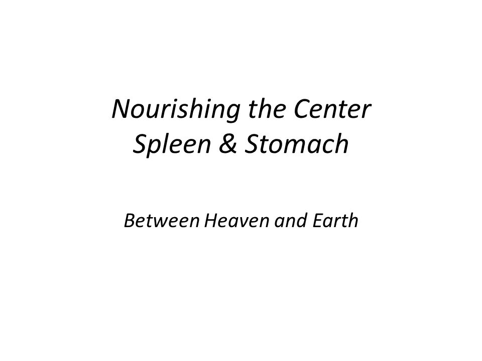 Nourishing the Center Spleen & Stomach Between Heaven and Earth