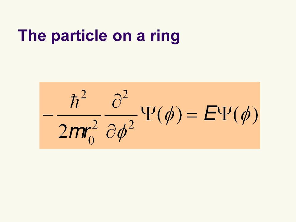 The particle on a ring