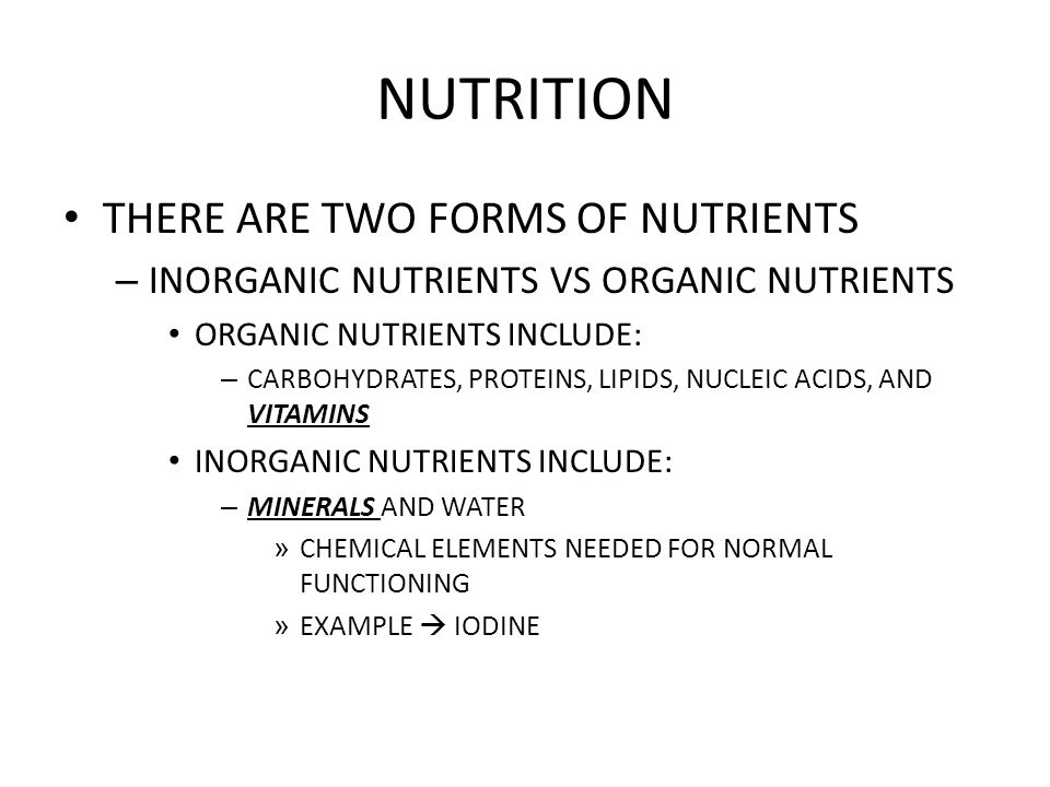 NUTRITION WHAT ABOUT THESE GUYS?