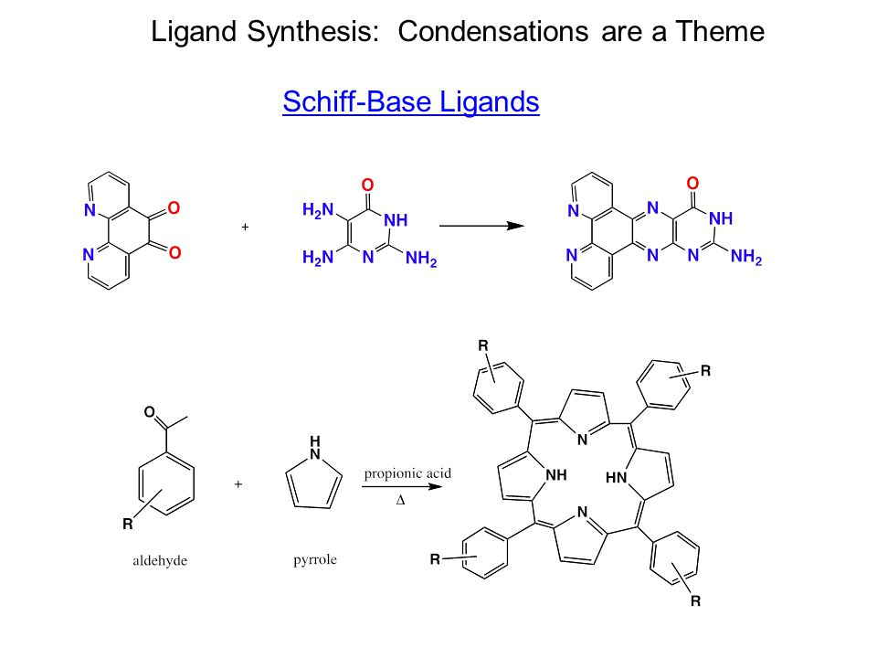 Ligand Synthesis: Condensations are a Theme Schiff-Base Ligands
