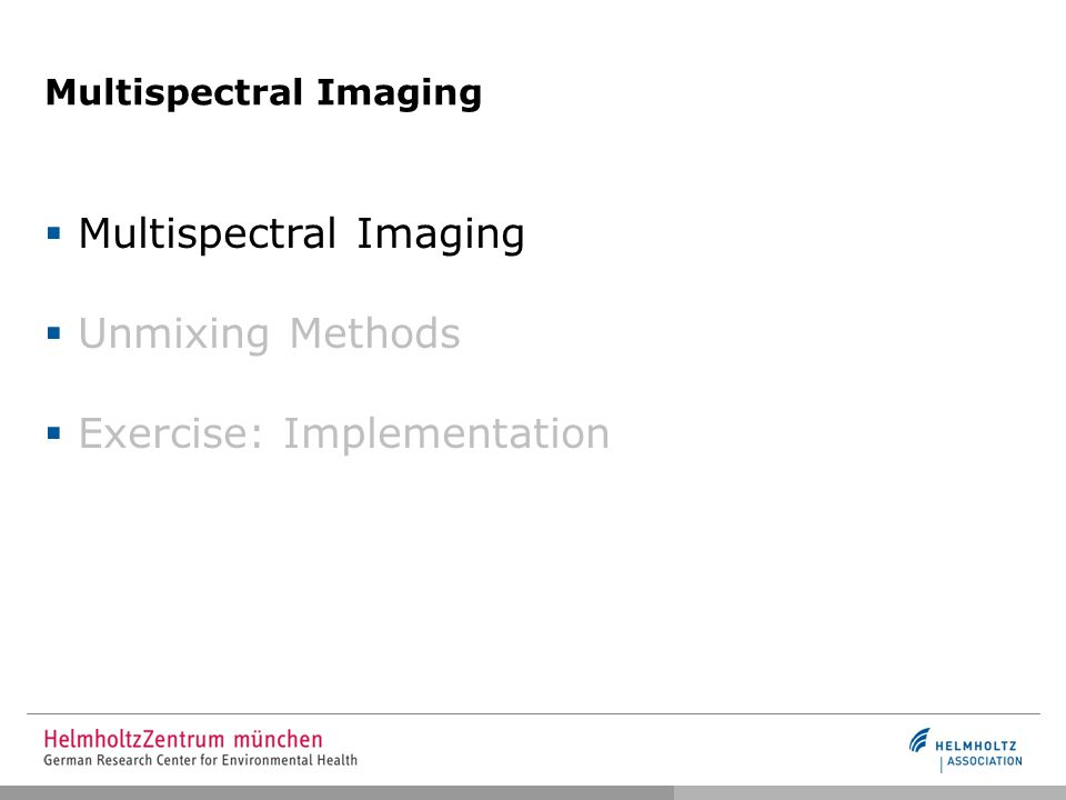 Multispectral Imaging Nature Spatial Resolution Magnification Spatial Resolution Magnification Spectral Resolution Sensitivity Range Spectral Resolution Sensitivity Range Technology Spatial Resolution and Magnification are significantly improved Spectral Resolution has practically not improved since first camera