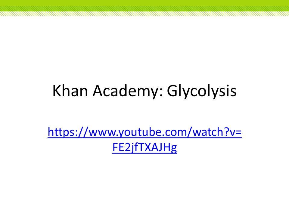 Khan Academy: Glycolysis https://www.youtube.com/watch?v= FE2jfTXAJHg