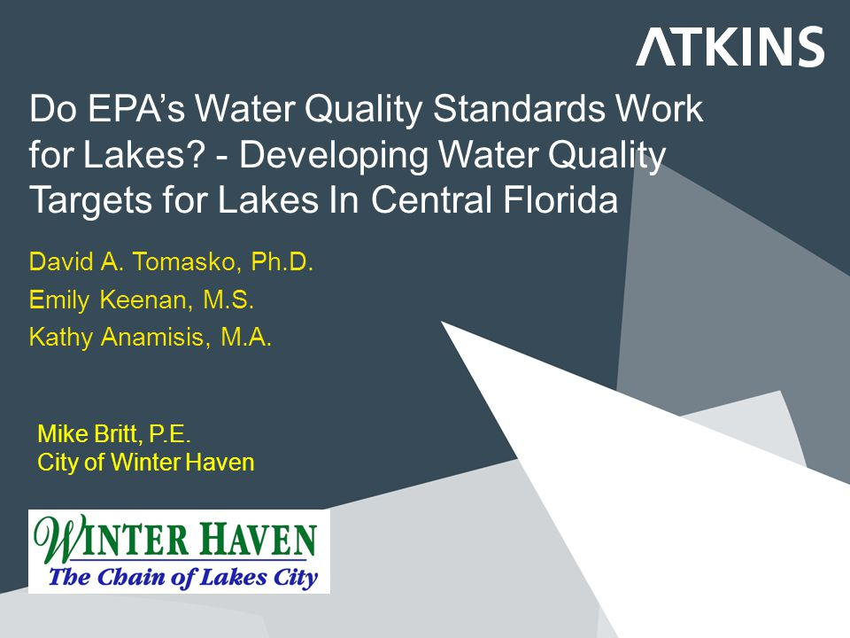Do EPA's Water Quality Standards Work for Lakes.