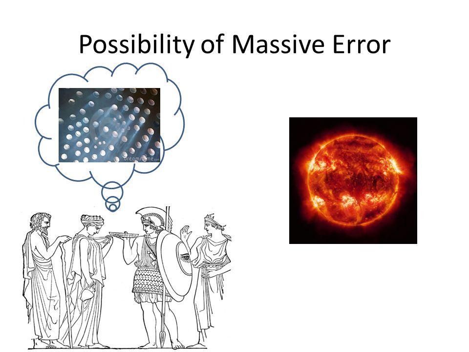 Possibility of Massive Error
