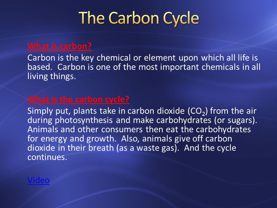 What is carbon. Carbon is the key chemical or element upon which all life is based.
