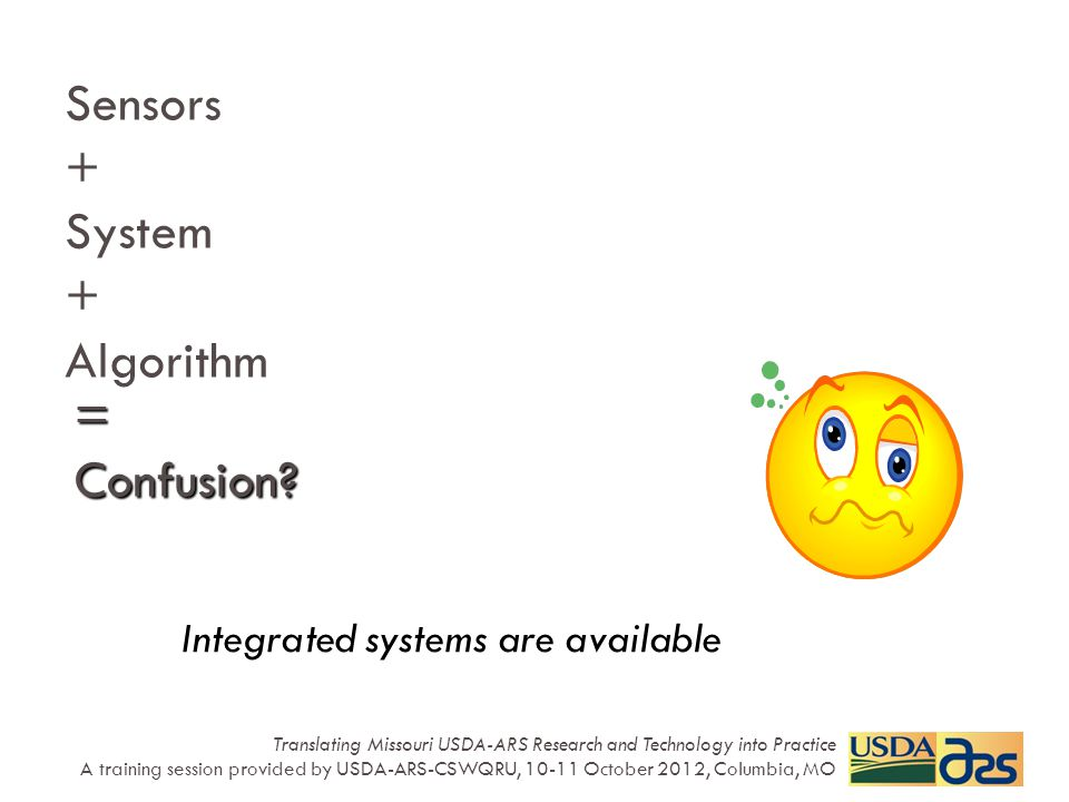 Sensors + System + Algorithm Integrated systems are available = Confusion.