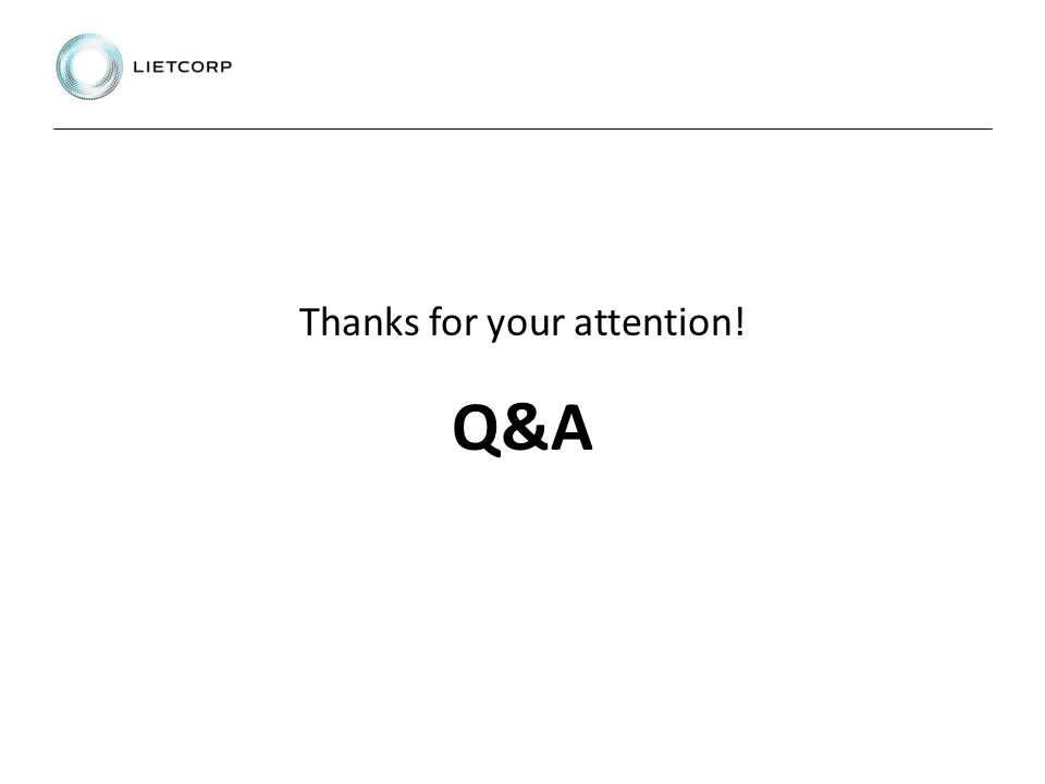 Thanks for your attention! Q&A