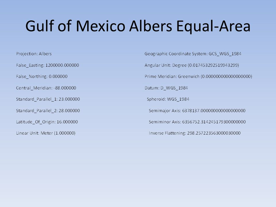 Gulf of Mexico Albers Equal-Area
