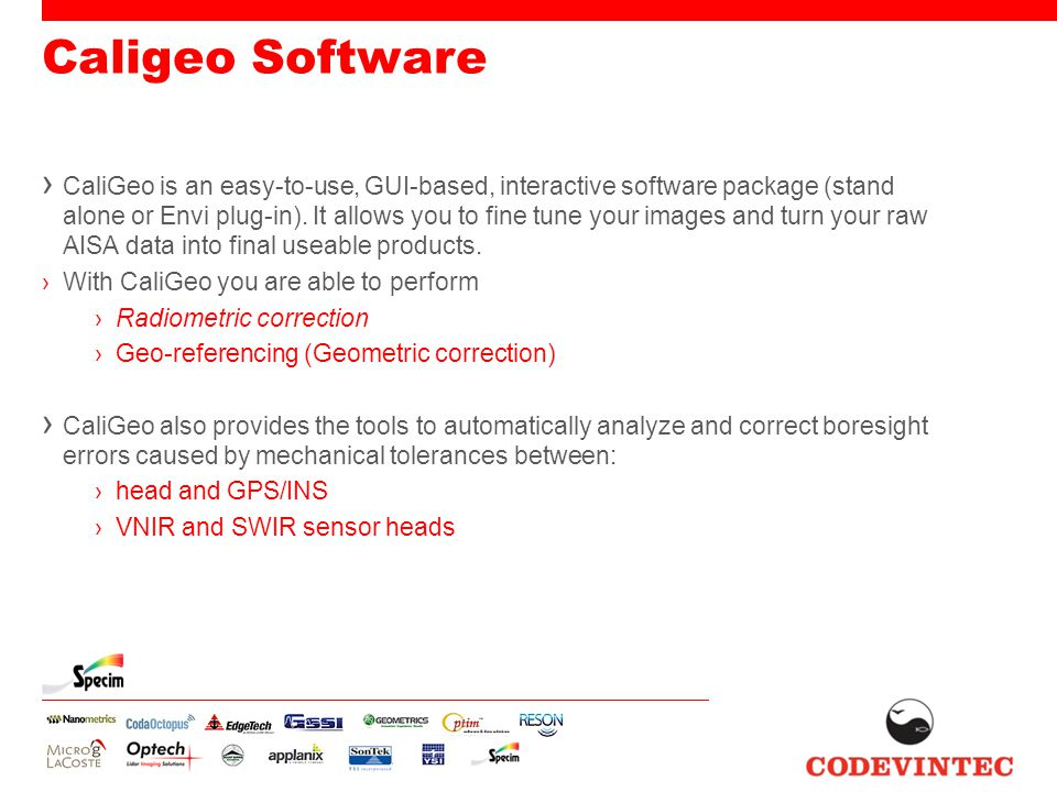 Caligeo Software › CaliGeo is an easy-to-use, GUI-based, interactive software package (stand alone or Envi plug-in).