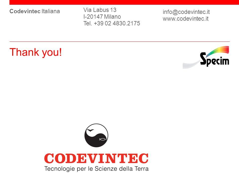 Codevintec Italiana Via Labus 13 I-20147 Milano Tel.