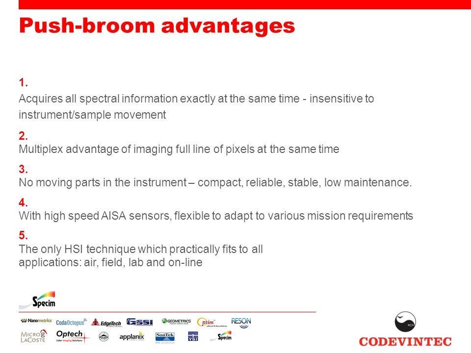 Push-broom advantages 1.