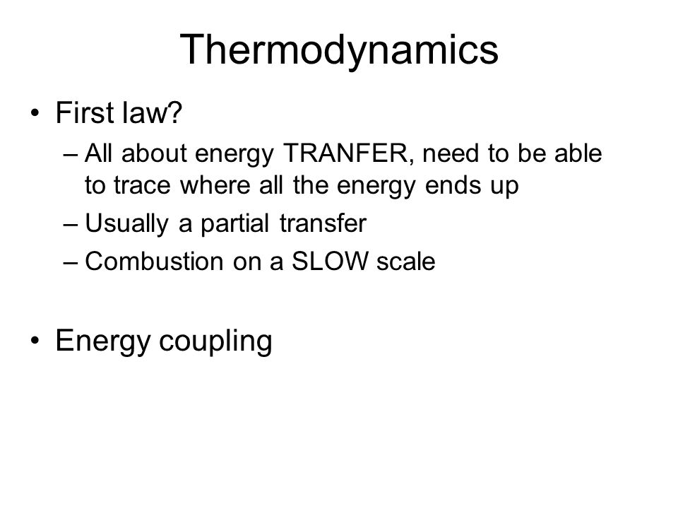 Thermodynamics First law.