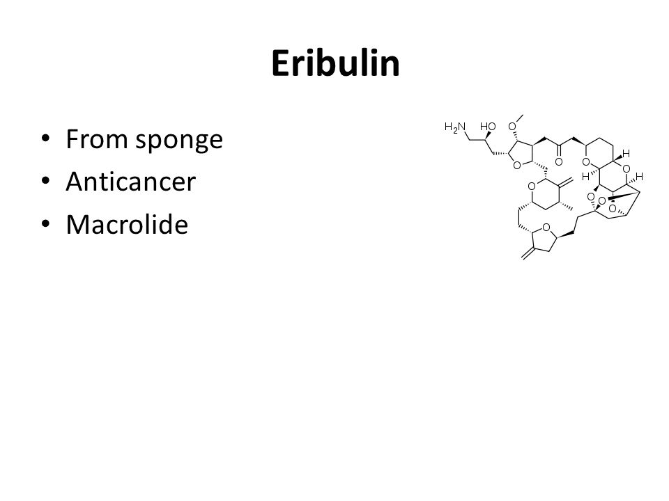 Eribulin From sponge Anticancer Macrolide