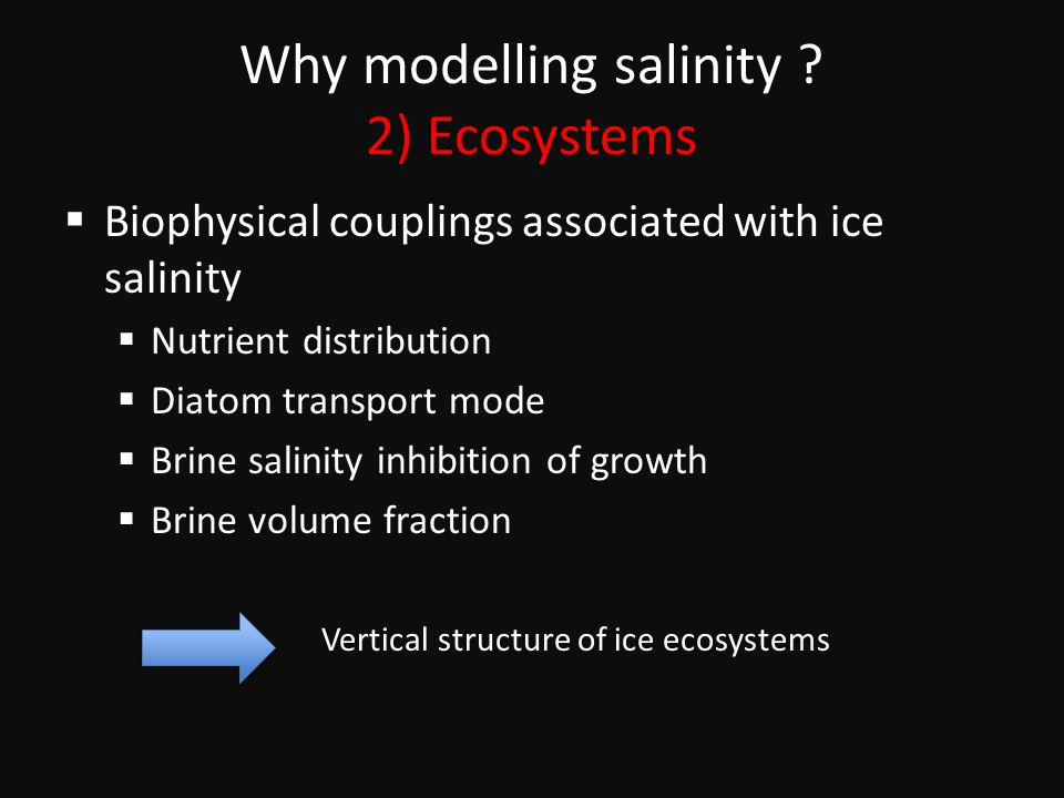 Why modelling salinity .